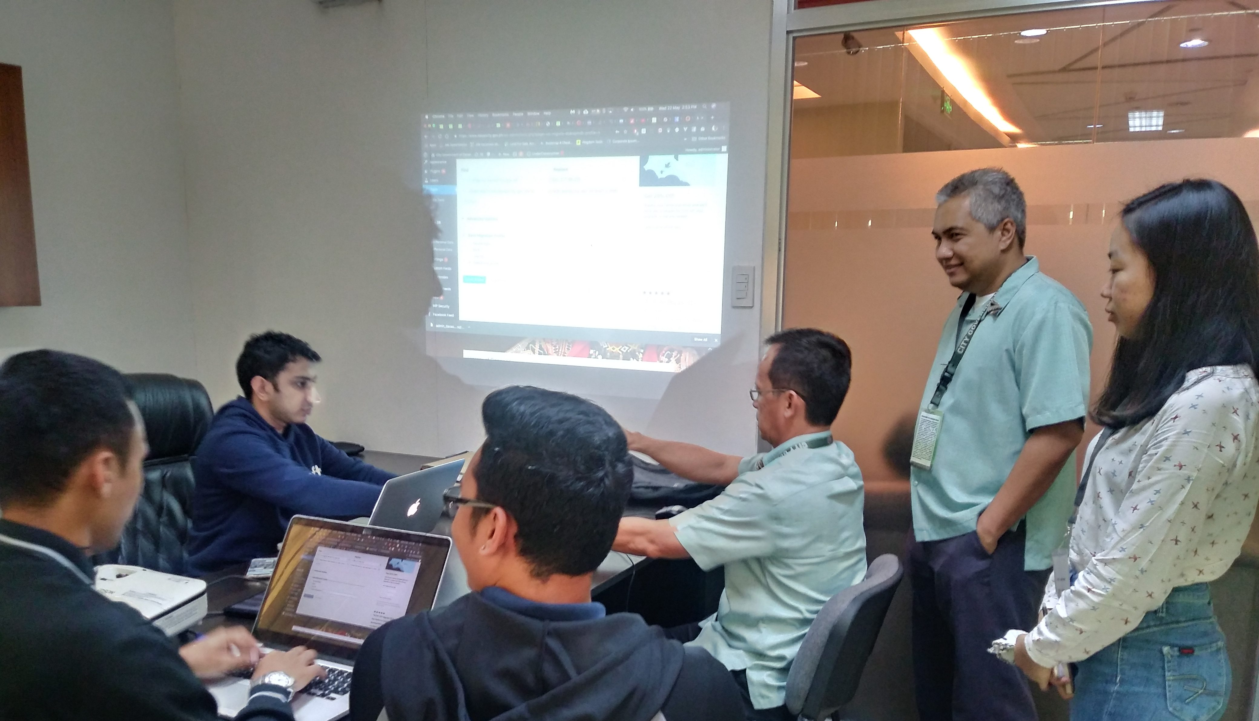 Davao City Website Technical Team Training at Infosoft Studio, May 22, 2019, 2:00 Pm.